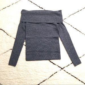 LIKE 🆕 off-the-shoulder blue Club Monaco sweater
